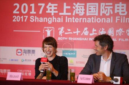 American actress Milla Jovovich left