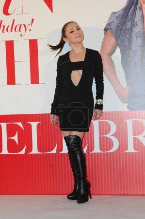 Japanese singer Ayumi Hamasaki poses