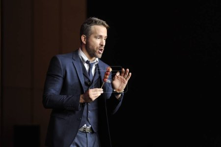 CanadianAmerican actor Ryan Reynolds tastes