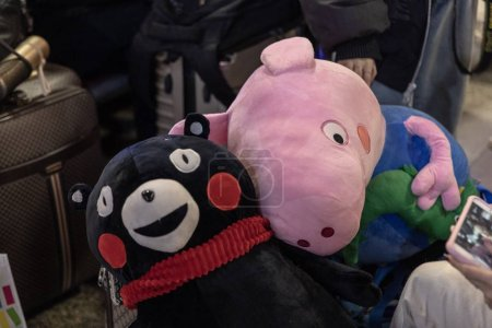 A Peppa Pig doll and