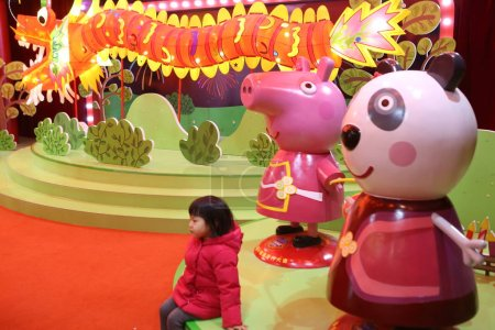 People visit the Ppeppa Pigthemed