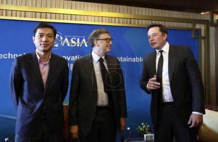 From left Robin Li Yanhong
