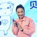 Hong Kong actress and singer Cecilia Cheung applau...