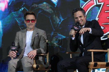 American actors Robert Downey Jr
