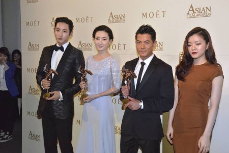 From left South Korean actor