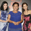 Japanese actress Chie Tanaka, left, and Taiwanese ...