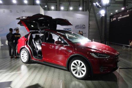 A Tesla electric car is