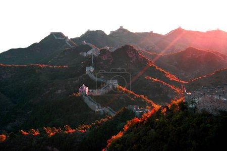 Photo for Landscape of the Jinshanling Great Wall in Luanping county, Chengde city, north Chinas Hebei province, 26 September 2008. - Royalty Free Image