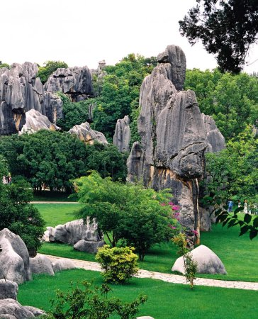 Photo for View of the Stone Forest in Kunming, southwest Chinas Yunnan province, 28 July 2006. - Royalty Free Image