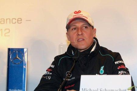 Немецкий гонщик Формулы 1 Михаэль Шумахер