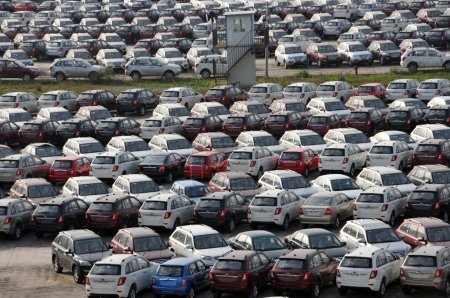 Lifan cars are lined up