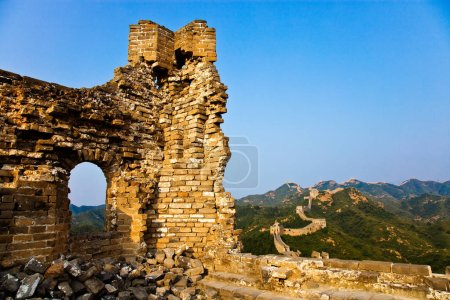 Photo for --FILE--Landscape of the Jinshanling Great Wall in Luanping county, north Chinas Hebei province, 28 August 2011 - Royalty Free Image