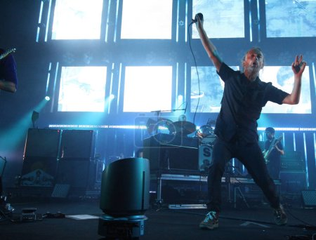 British rock band Radiohead perform