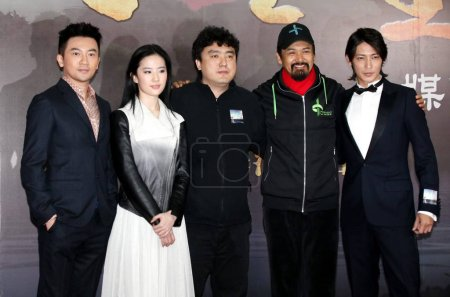 From left Taiwanese singer and