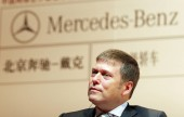 Gunter Butschek, President and CEO of Beijing Benz- DaimlerChrysler Automotive Co. Ltd. (BBDC), at a press conference for the announcement that Beijing Benz- DaimlerChrysler Automotive Co. Ltd. becomes an sponsor of Tennis China Open 2007 in Beijing,