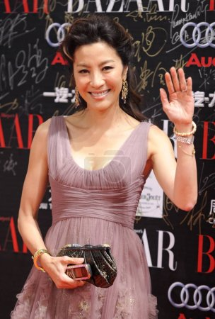 Hollywood actress Michelle Yeoh poses