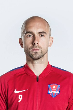 Photo for **EXCLUSIVE**Portrait of Polish soccer player Adrian Mierzejewski of Chongqing Dangdai Lifan F.C. SWM Team for the 2019 Chinese Football Association Super League, in Chongqing, China, 21 February 2019. - Royalty Free Image