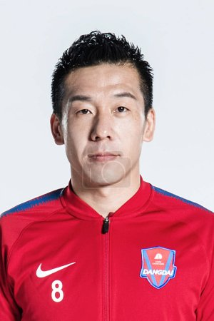 Photo for **EXCLUSIVE**Portrait of Chinese soccer player Ding Jie of Chongqing Dangdai Lifan F.C. SWM Team for the 2019 Chinese Football Association Super League, in Chongqing, China, 21 February 2019. - Royalty Free Image