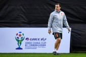 New head coach Fabio Cannavaro of Chinese national men's football team takes part in a training session for the opening match against Thailand national men's football team during the 2019 GREE China Cup International Football Championship in Nanning