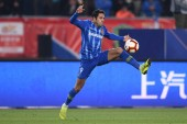 Italian-Brazilian football player Eder Citadin Martins, simply known as Eder, of Jiangsu Suning F.C. dribbles against Wuhan Zall F.C. in their 3rd round match during the 2019 Chinese Football Association Super League (CSL) in Shanghai, China, 31 Marc
