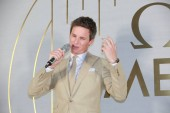 English actor Eddie Redmayne attends a brand event for Omega in Shanghai, China, 26 April 2019.