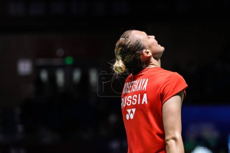 Russian professional badminton player Evgeniya Kos...