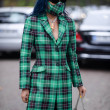 Aleali May poses for street snaps during the Marin...