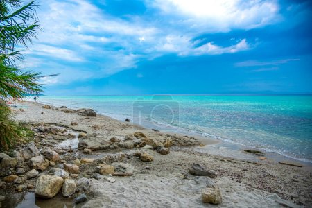Photo for Tropical beach with rocks and sea - Royalty Free Image