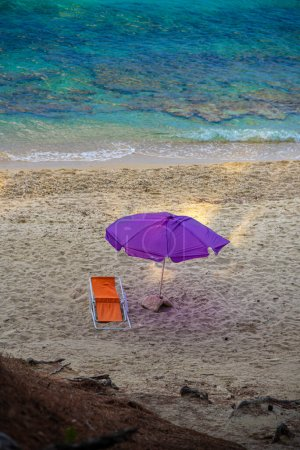 Photo for Beach chair on the tropical island of koh samui - Royalty Free Image