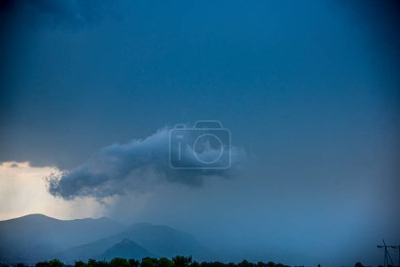 Photo for Clouds and mountains in the sky - Royalty Free Image