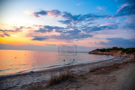 Photo for Sunset on the beach - Royalty Free Image