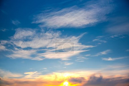 Photo for Beautiful sunset sky with clouds - Royalty Free Image