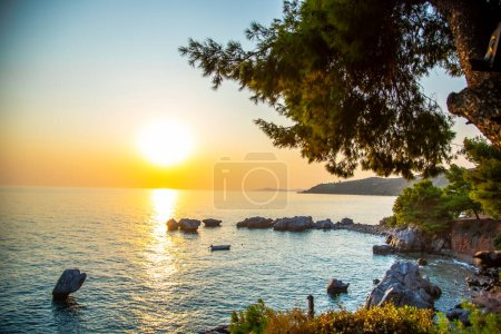 Photo for Beautiful sunset on the sea - Royalty Free Image