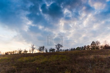 Photo for Summer landscape with clouds and blue sky - Royalty Free Image