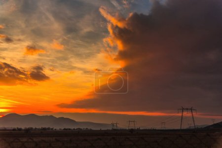 Photo for Amazing clouds at the sunset - Royalty Free Image