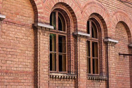 Chernivtsi National University, Ukraine.  Window of Residence of bukovinian and dalmatian metropolitans. Romano-Byzantine style decor with motifs of Renaissance architecture, Gothic and Moorish style.