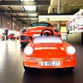 Luxury modern car in auto show exhibition