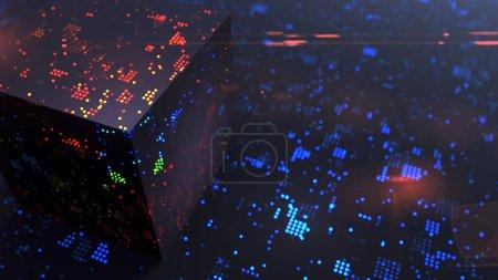Photo pour Cryptographie et concept de technologies modernes de communication données volumineuses - image libre de droit