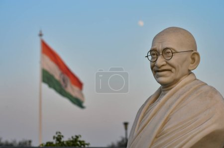 Bust of Gandhi statue with