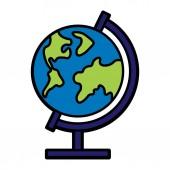 Globe Icon Isolated On White Background