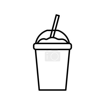 Cartoon Slush Icon Isolated On White Background