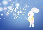 Good night calligraphy sweet dream greeting card background co