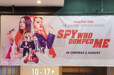KUALA LUMPUR, MALAYSIA - JULY 26, 2018: The Spy Who Dumped Me movie poster