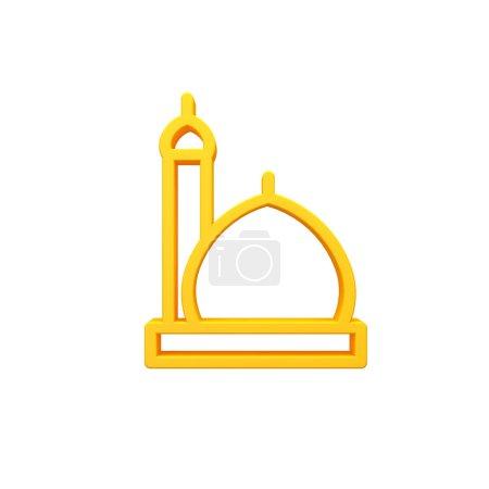 Photo pour Mosquée de style nouveau de l'image 3d d'icône - image libre de droit