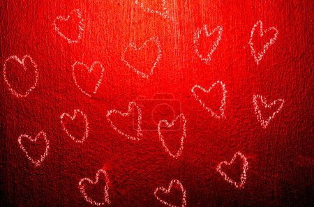 hearts on chalkboard, abstract background, texture