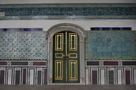 Photo for Tourists visiting Topkapi Palace in Istanbul - Royalty Free Image