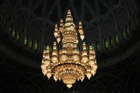 Foto de Vista interna de la Gran Mezquita del Sultán Qaboos - Imagen libre de derechos