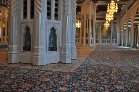 Photo for Internal view of The Sultan Qaboos Grand Mosque - Royalty Free Image