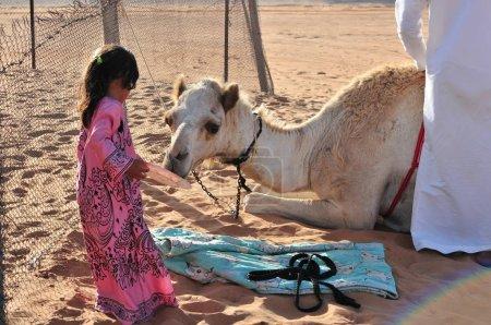 Photo pour Vue sur la vie quotidienne d'un petit village désertique - image libre de droit