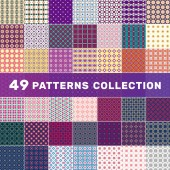 Set of 49 geometric abstract patterns Decorative background for cards invitations web design
